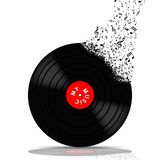 Vinyl record-LP music Stock Photos