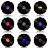 Vinyl record-LP set Stock Image