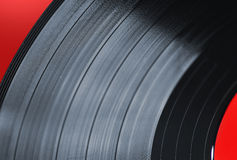 Vinyl record macro Stock Photography
