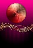 Vinyl Record & Music Notes royalty free illustration