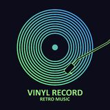 Vinyl record. Music poster with vinyl disc. Design for musical cover or logo. Vector. Vinyl record. Music poster with vinyl disc. Design for musical cover or vector illustration