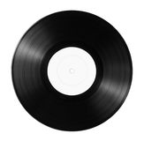 Vinyl record. New vinyl record with empty label isolated on white Royalty Free Stock Image