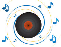 Vinyl Record and Notes Stock Images