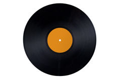 Vinyl Record Orange Label Stock Image