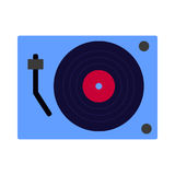 Vinyl record player flat icon, vector sign Royalty Free Stock Image