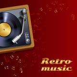 Vinyl record player poster royalty free illustration