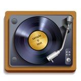 Vinyl record player print stock illustration