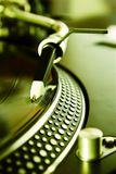 Vinyl record player spinning the disc. Analog music record player spinning the vinyl record Royalty Free Stock Photography