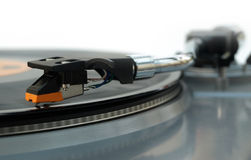 Vinyl record player stylus Royalty Free Stock Photos