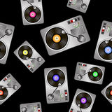 Vinyl Record Players Seamless Pattern Royalty Free Stock Image
