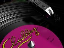 Vinyl record playing Stock Photo