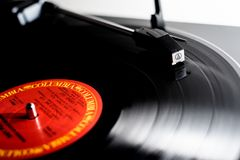 Vinyl Record playing royalty free stock image