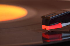 Vinyl record playing A Stock Photo