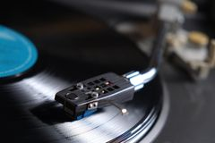 Vinyl record playing Stock Photography