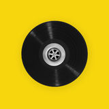 Vinyl record with plughole Stock Images