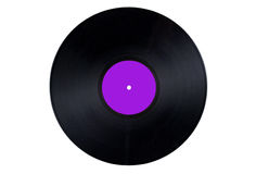Vinyl Record Purple Label. Vinyl Record with an Purple Label Stock Photos