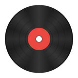 Vinyl record with red label Royalty Free Stock Image