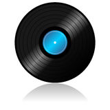 Vinyl record with reflex Royalty Free Stock Photo