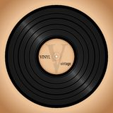 Vinyl record, retro background music poster. A beautiful vinyl record. Music. Vector illustration for a postcard or a poster, print for clothes. Vintage and Stock Images