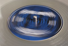 Vinyl record revolves Grey Stock Images