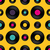 Vinyl record seamless background pattern Royalty Free Stock Photo