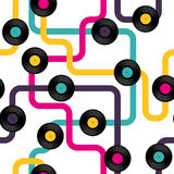 Vinyl record seamless background pattern Royalty Free Stock Images