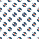 Vinyl record seamless pattern. Royalty Free Stock Images