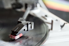 Vinyl record spinning on turntable Royalty Free Stock Photos