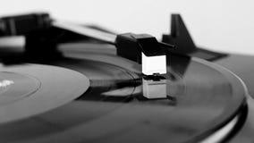 Vinyl record spinning stock video