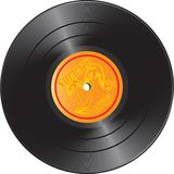 Vinyl record with summer hits stock photos