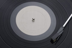 Vinyl Record with Tone Arm Stock Images