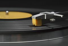 Vinyl record on turntable Royalty Free Stock Photo