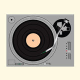 Vinyl record on turntable Stock Photo