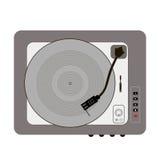 Vinyl record turntable. Vinyl record player retro grey buttons pinwheel stylish Royalty Free Stock Image