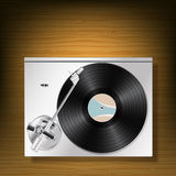 Vinyl record turntable Royalty Free Stock Images