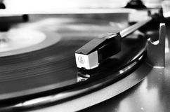 Vinyl Record On Vinyl Player Stock Photography