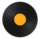 Vinyl Record Yellow Stock Photo