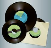 Assortment of Vintage Vinyl Record Albums royalty free illustration