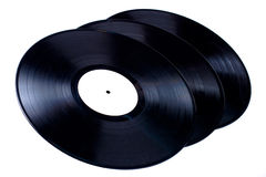 Vinyl records. On black background Stock Images