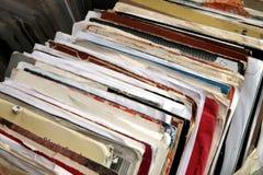 Vinyl records. Old vinyl records Stock Photos