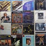 Vinyl records album covers Royalty Free Stock Image