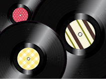 Vinyl records background Royalty Free Stock Photos