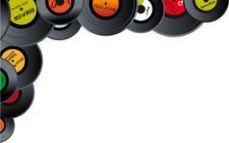 Free Vinyl Records Border Stock Photo - 107634770
