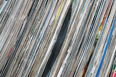 Vinyl records collection Stock Photo