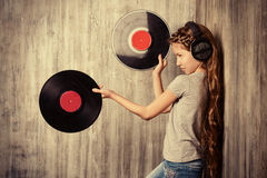 Vinyl records Royalty Free Stock Photography