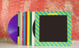 Vinyl records. Free copy space Stock Photo