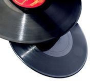 Vinyl records isolated Stock Photo