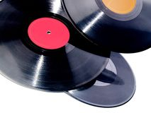 Vinyl records isolated Stock Image