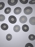 Vinyl records - Music background Royalty Free Stock Photos