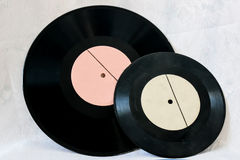 Vinyl records with music Royalty Free Stock Photo